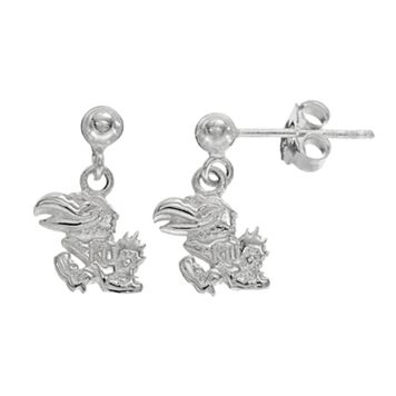 Dayna U Kansas Jayhawks Sterling Silver Drop Earrings
