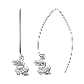 Dayna U Kansas Jayhawks Sterling Silver Hook Earrings