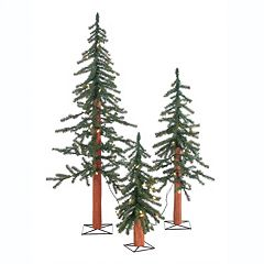 Sterling 3-piece Pre-Lit Artificial Alpine Christmas Tree Set