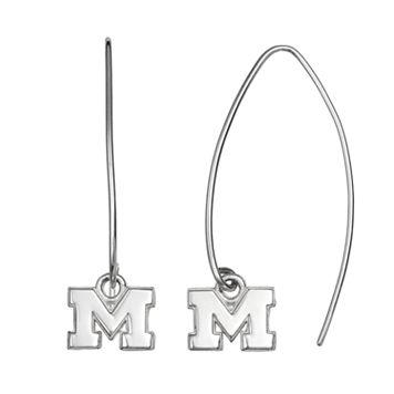 Dayna U Michigan Wolverines Sterling Silver Hook Earrings