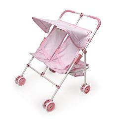 Badger Basket Double Doll Folding Stroller