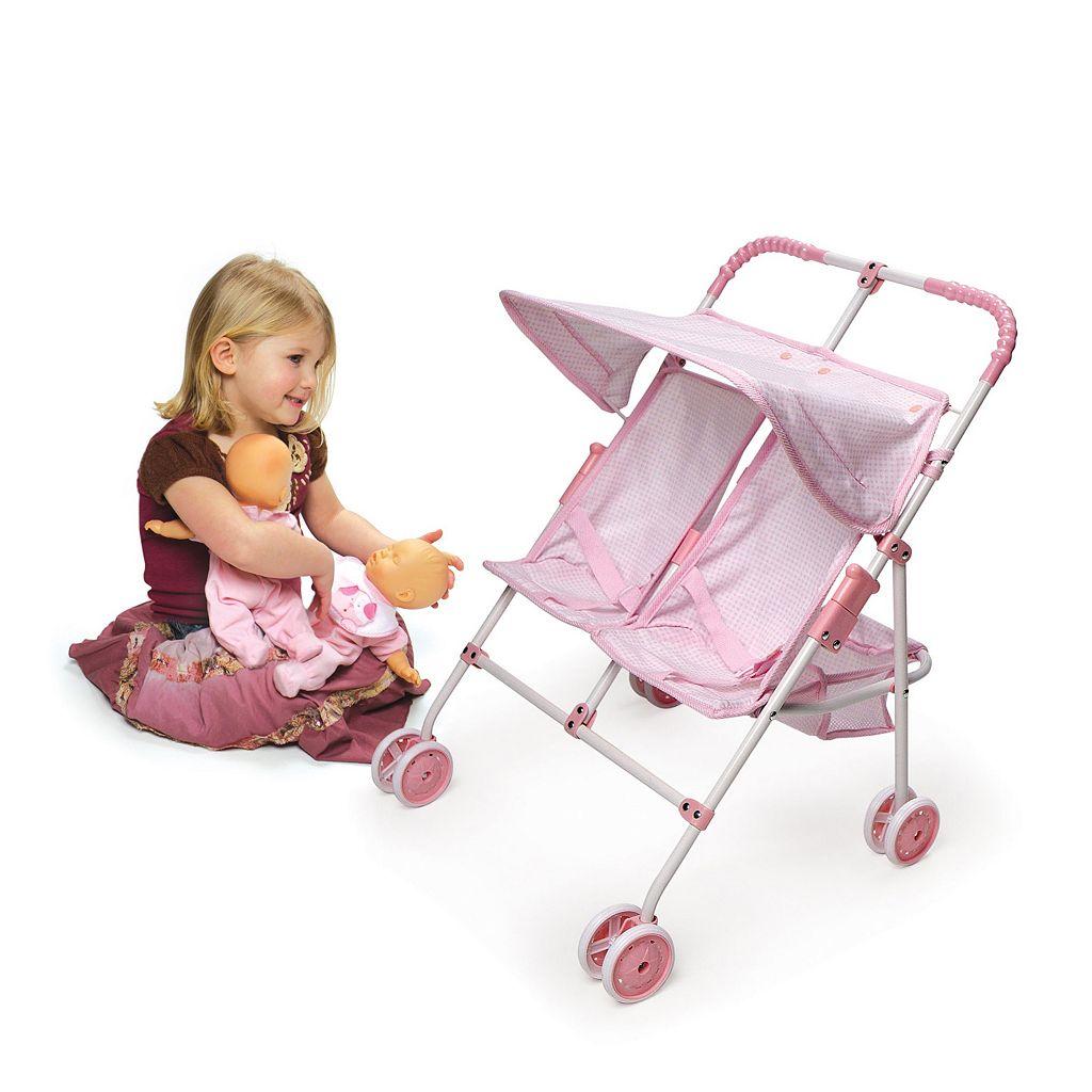 Badger Basket Double Doll Folding Stroller