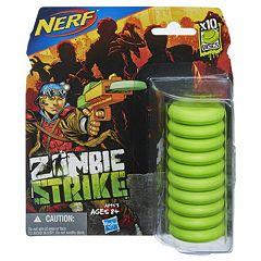 Nerf 10 pkZombie Strike Discs by Hasbro