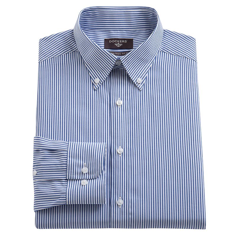 Dockers Fitted Striped Dress Shirt - Men