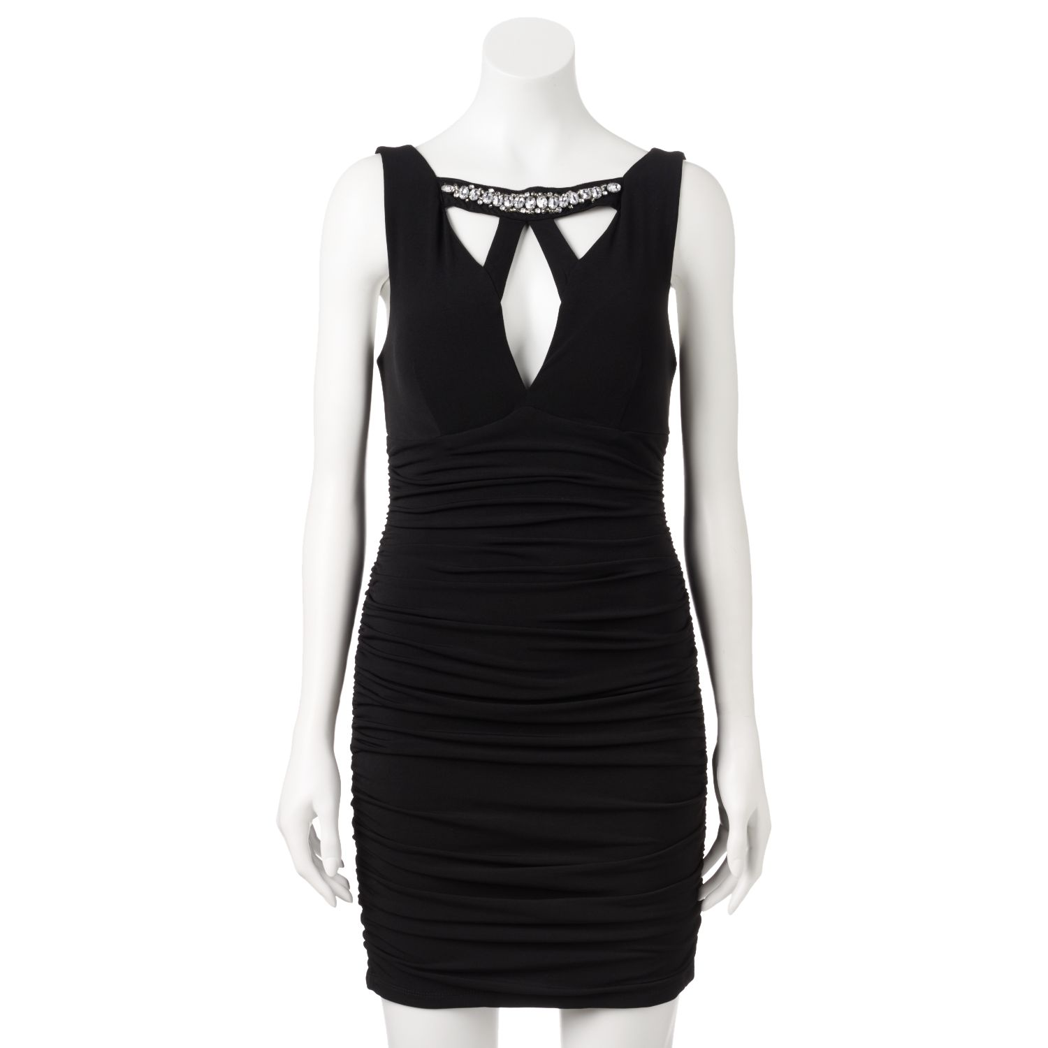 e3634357a LIST PRICE Trixxi Ruched Cage Bodycon Dress - Juniors - pskkeedress