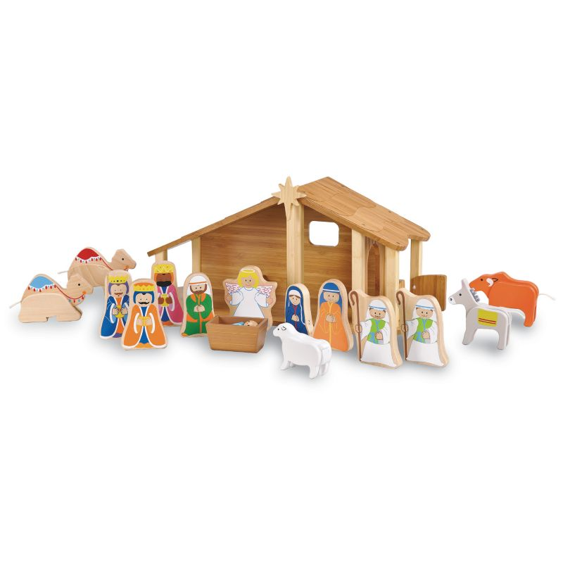Maxim Enterprise Inc. 33512 Bamboo Nativity with Figures and Animals 95576705