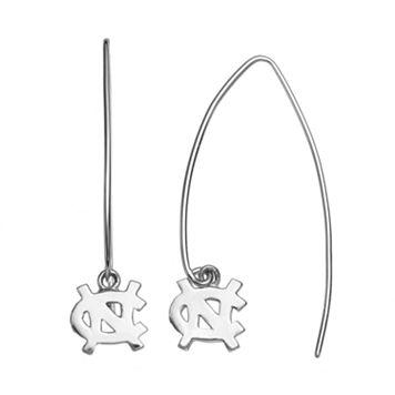 Dayna U North Carolina Tar Heels Sterling Silver Hook Earrings
