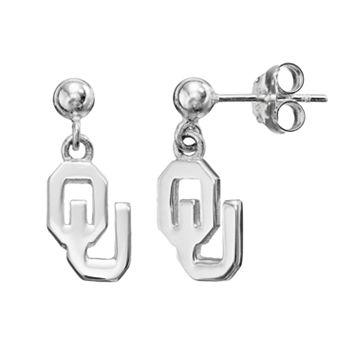Dayna U Oklahoma Sooners Sterling Silver Drop Earrings
