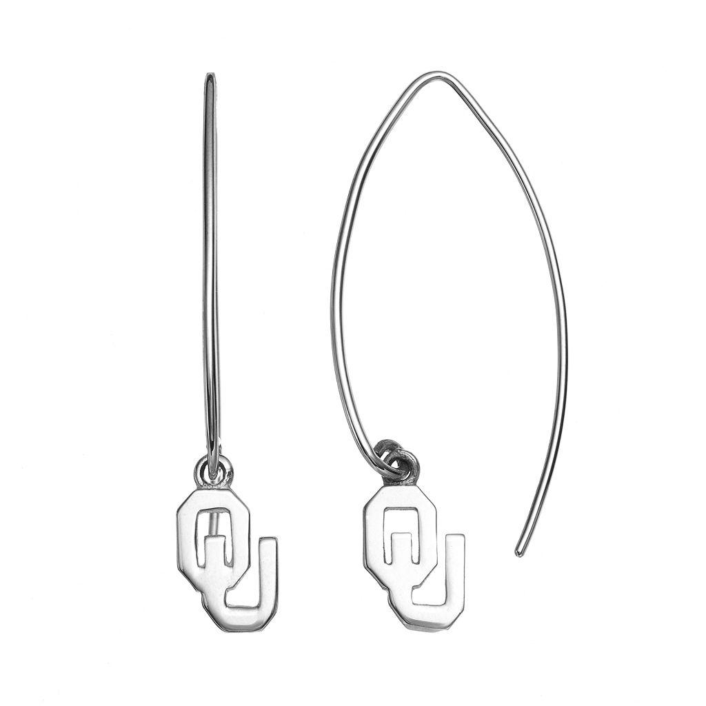 Dayna U Oklahoma Sooners Sterling Silver Hook Earrings