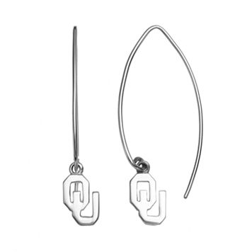 Dayna U Oklahoma Sooners Sterling Silver Hook Earrings
