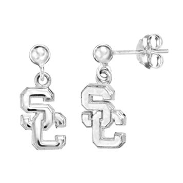 Dayna U USC Trojans Sterling Silver Drop Earrings