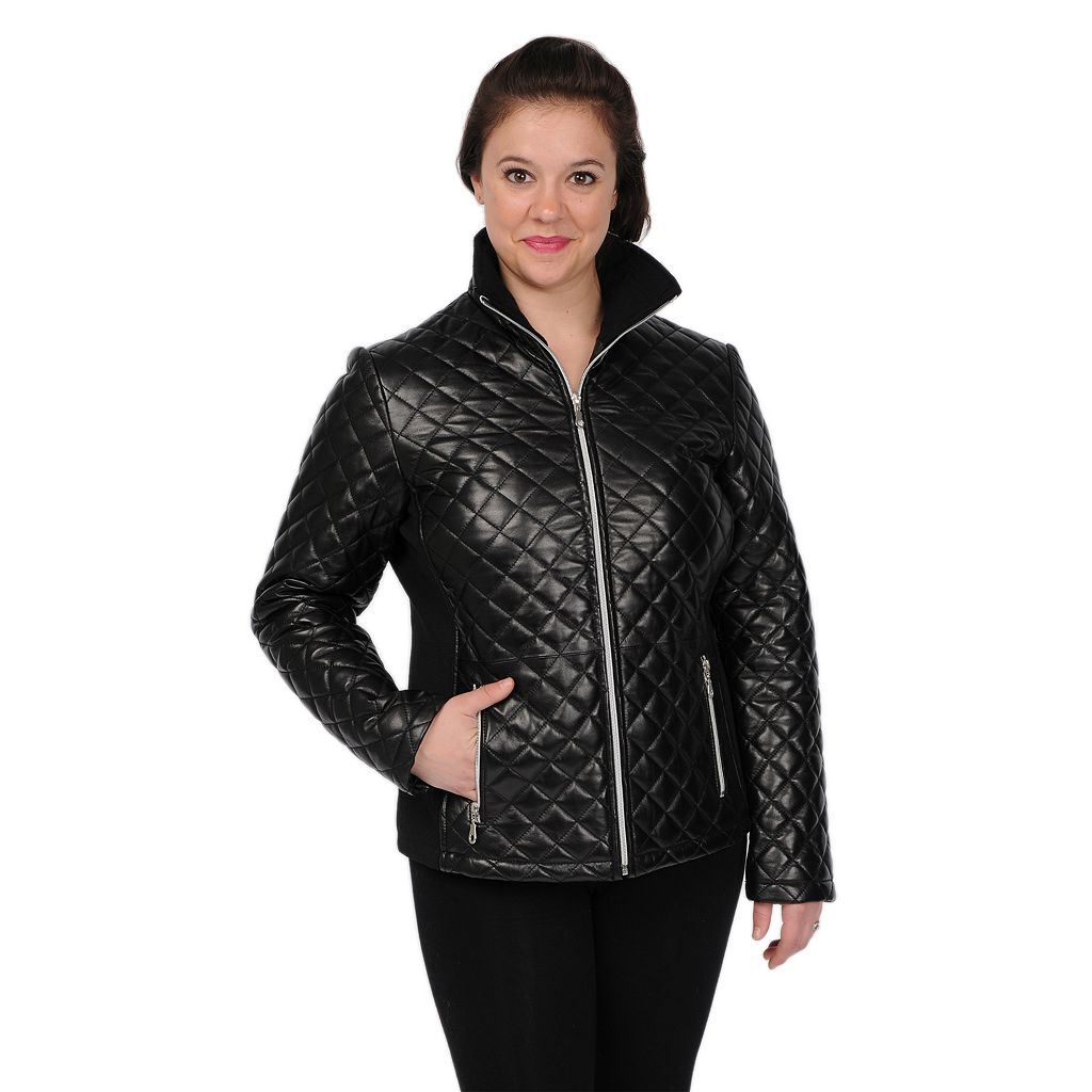 Women's Excelled Quilted Leather Jacket