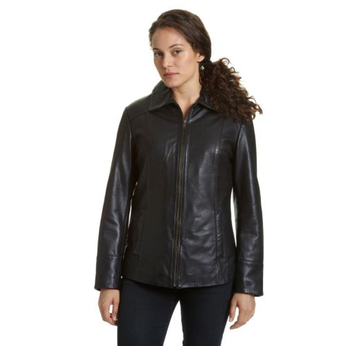 Women's Excelled Leather Scuba Jacket by Kohl's