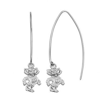 Dayna U Wisconsin Badgers Sterling Silver Hook Earrings