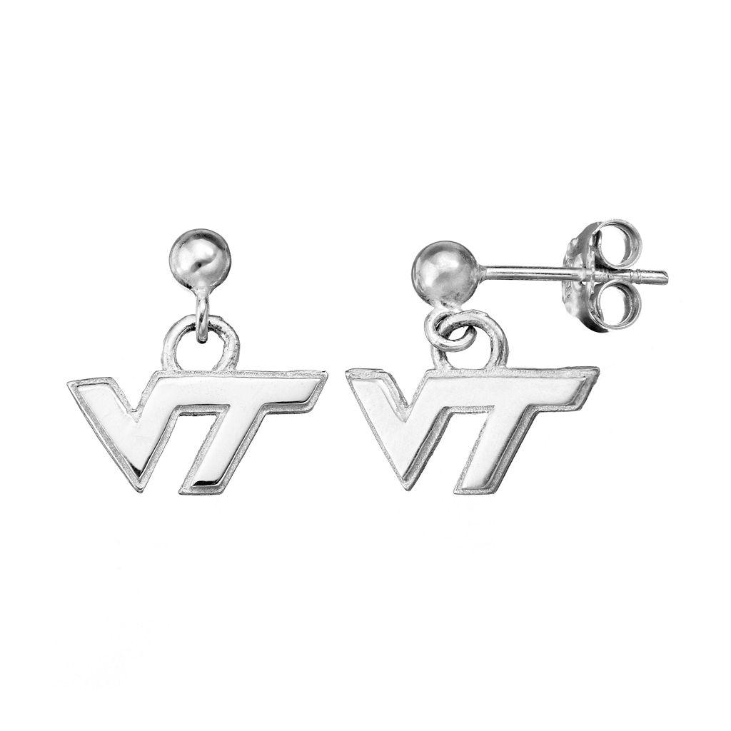 Dayna U Virginia Tech Hokies Sterling Silver Drop Earrings