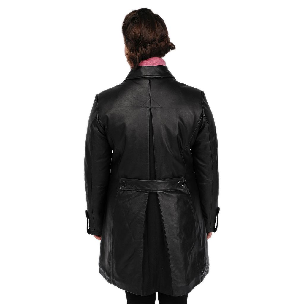 Women's Excelled Leather Trench Coat