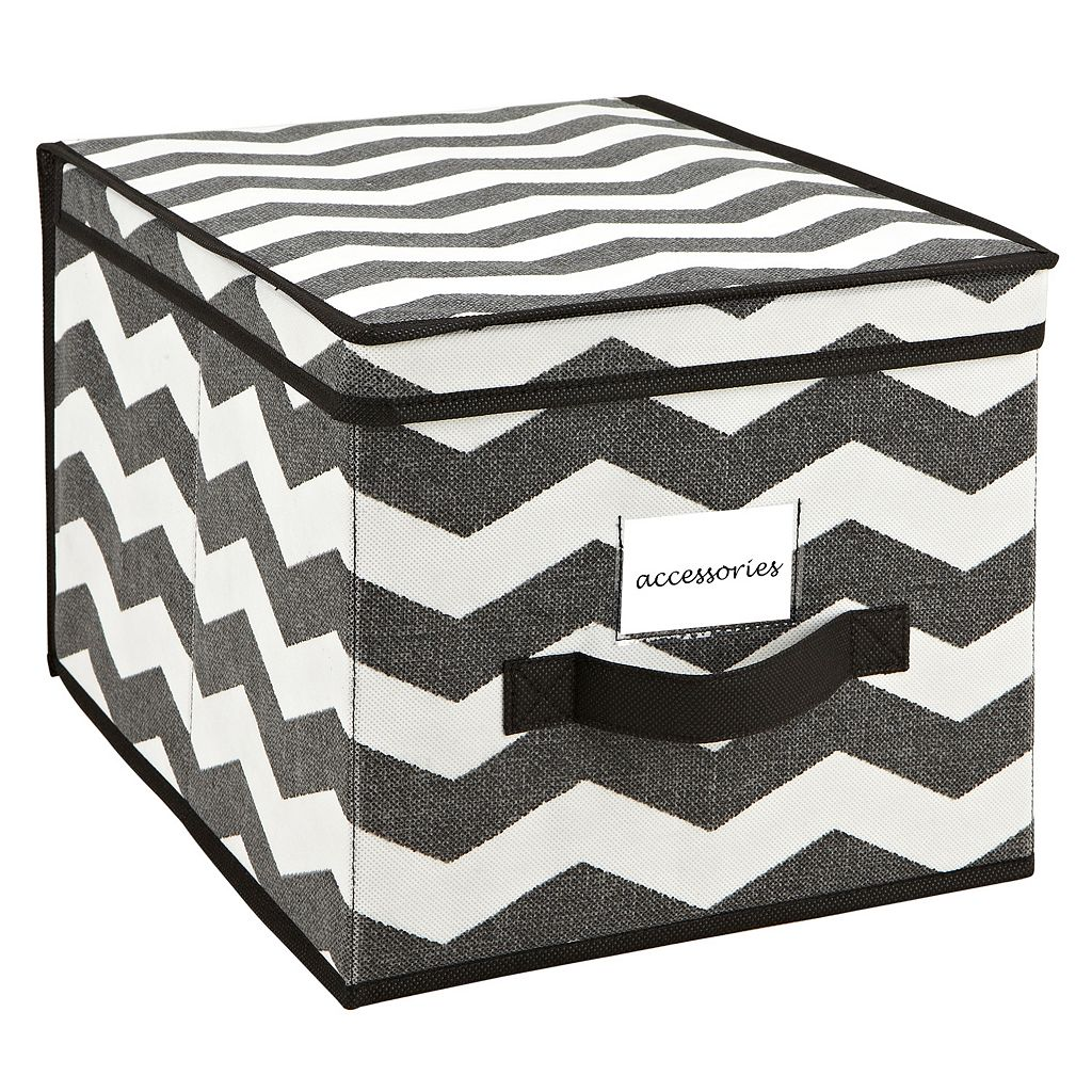 The Macbeth Collection Closet Candie Chevron Collapsible Storage Box - Large