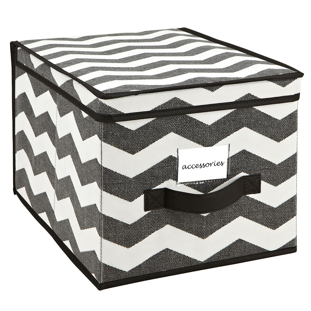 The Macbeth Collection Closet Candie Chevron Collapsible Storage Box - Jumbo