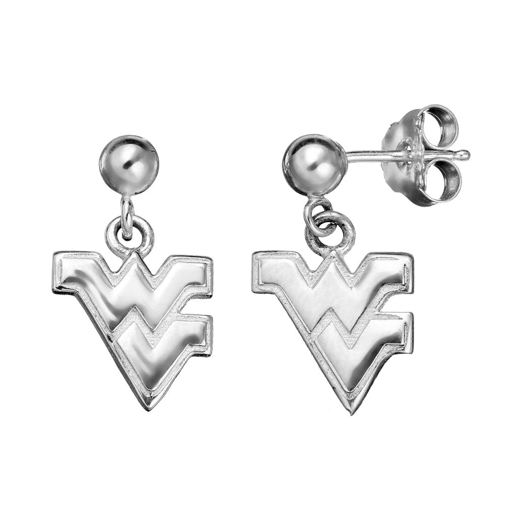 Dayna U West Virginia Mountaineers Sterling Silver Drop Earrings