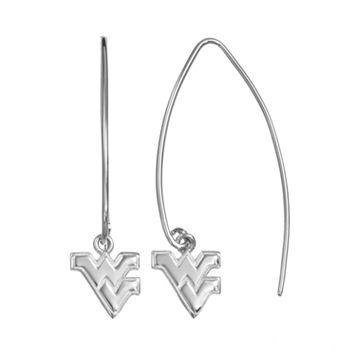 Dayna U West Virginia Mountaineers Sterling Silver Hook Earrings