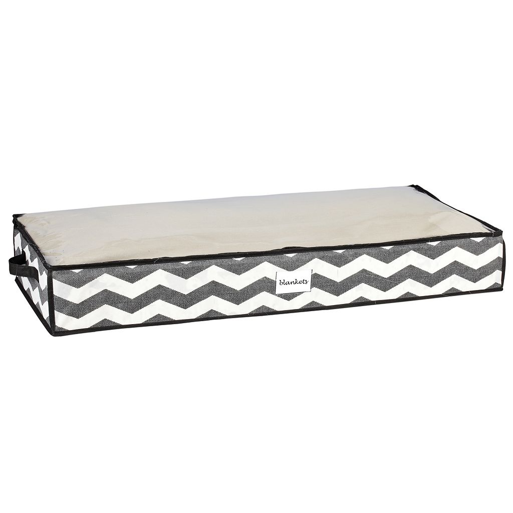 The Macbeth Collection Closet Candie Chevron Collapsible Storage Bag