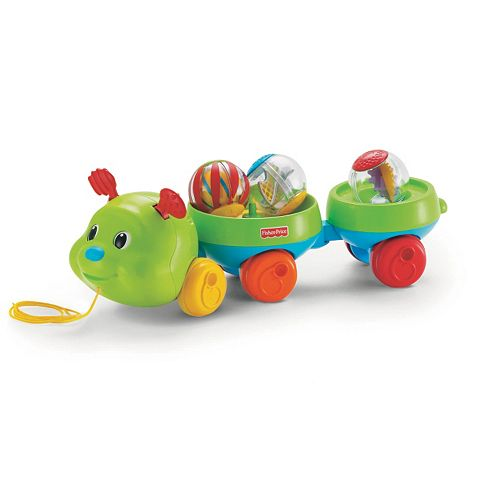 Roll-a-Rounds Pull & Spin Caterpillar Toy by Fisher-Price