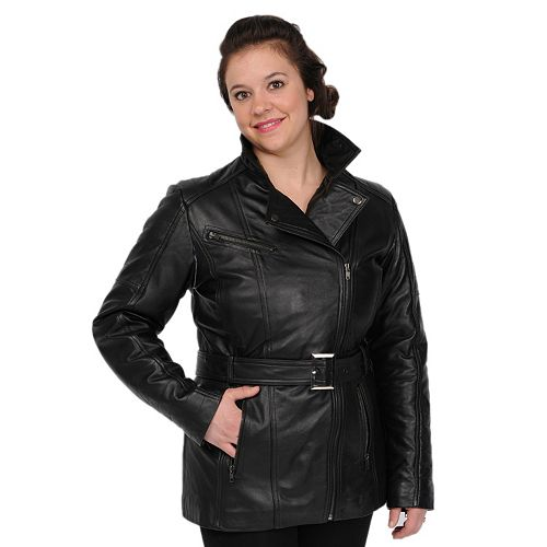 Women's Excelled Asymmetrical Leather Jacket