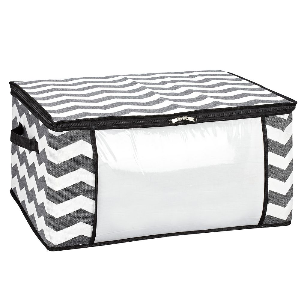 The Macbeth Collection Closet Candie Chevron Collapsible Storage Bag - Jumbo