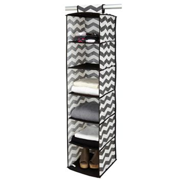 The Macbeth Collection Closet Candie Collapsible Chevron 6-Shelf Hanging Organizer