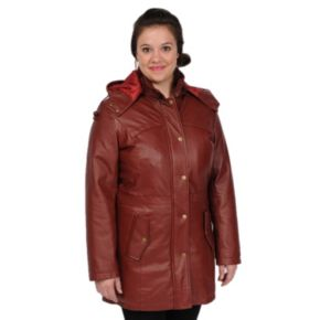 Women's Excelled Nappa Leather Anorak Parka