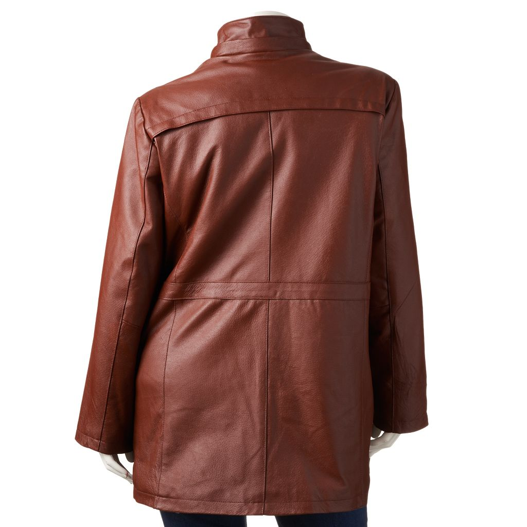 Plus Size Excelled Nappa Leather Anorak Parka