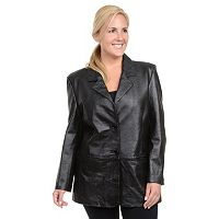 Plus Size Excelled Nappa Leather Jacket