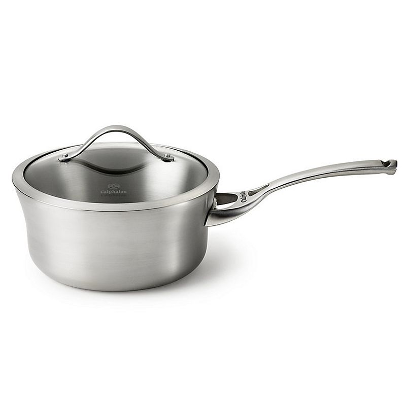 Calphalon Contemporary Stainless 3.5-qt. Covered Stainless Steel Saucepan