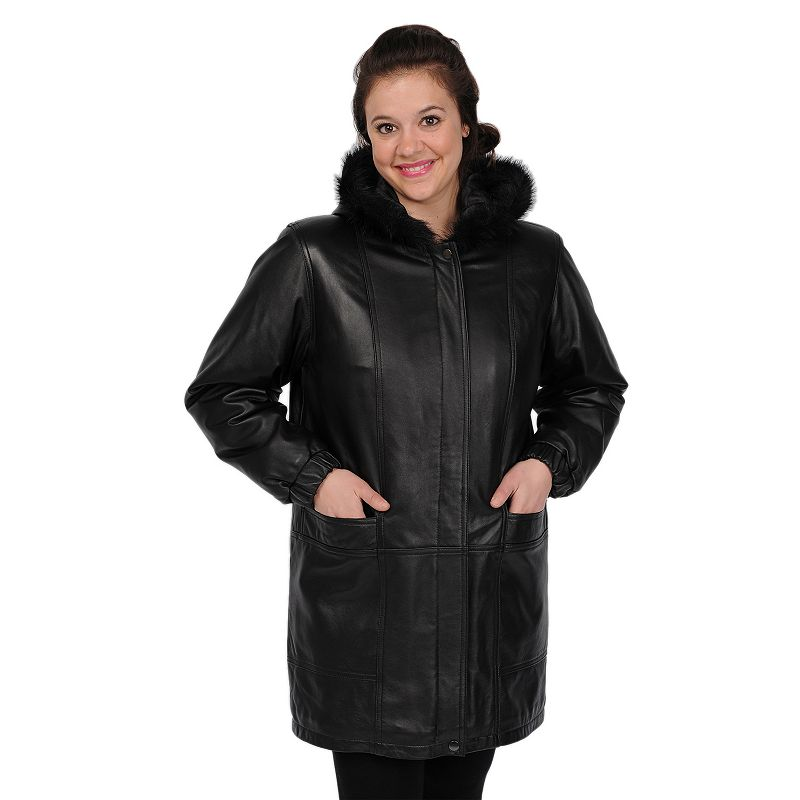 Excelled Ladies Lambskin Walking Coat- Online Exclusive