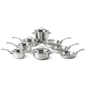 Calphalon Contemporary Stainless 13-pc. Stainless Steel Cookware Set