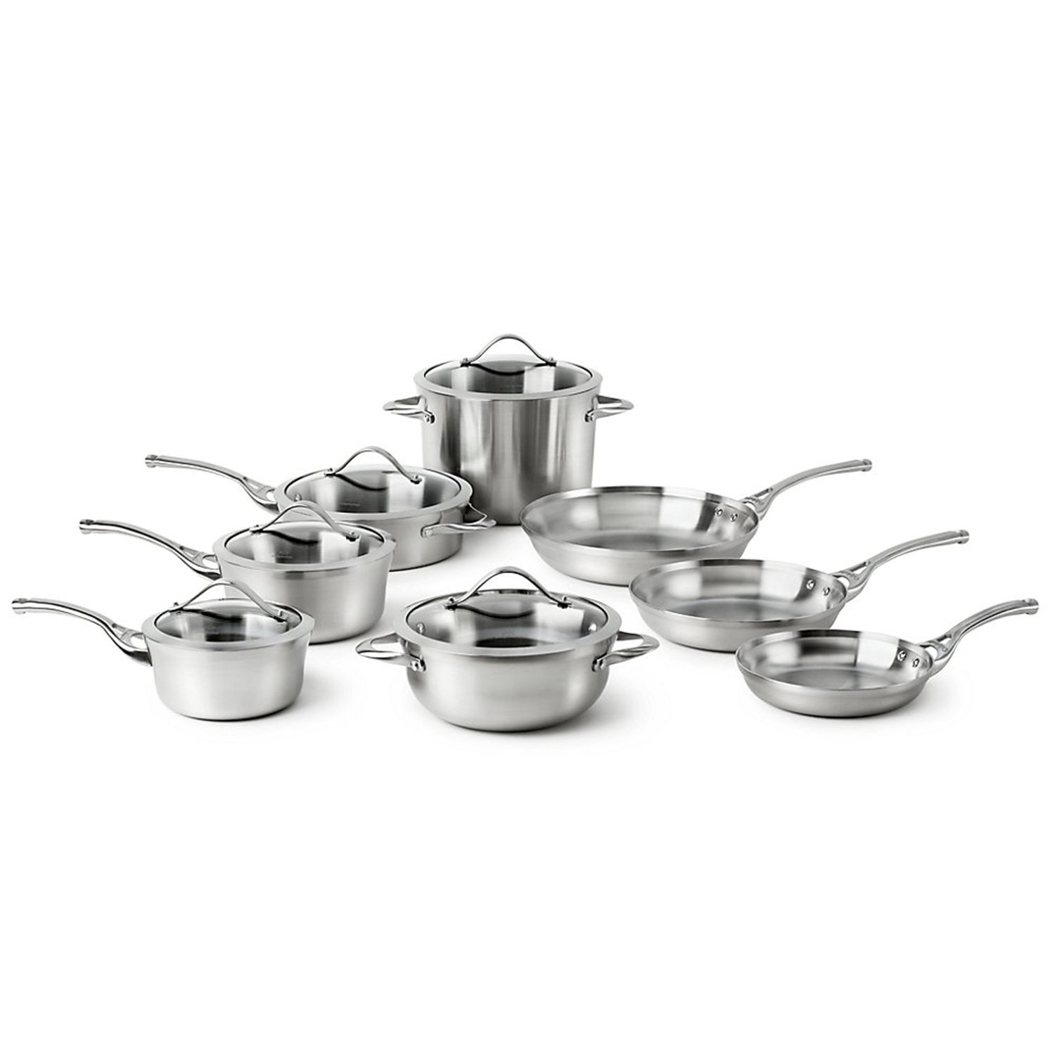 calphalon stainless 13pc stainless steel cookware set