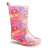 Shiny Sweet Icon Tie-Dye Rain Boots - Girls
