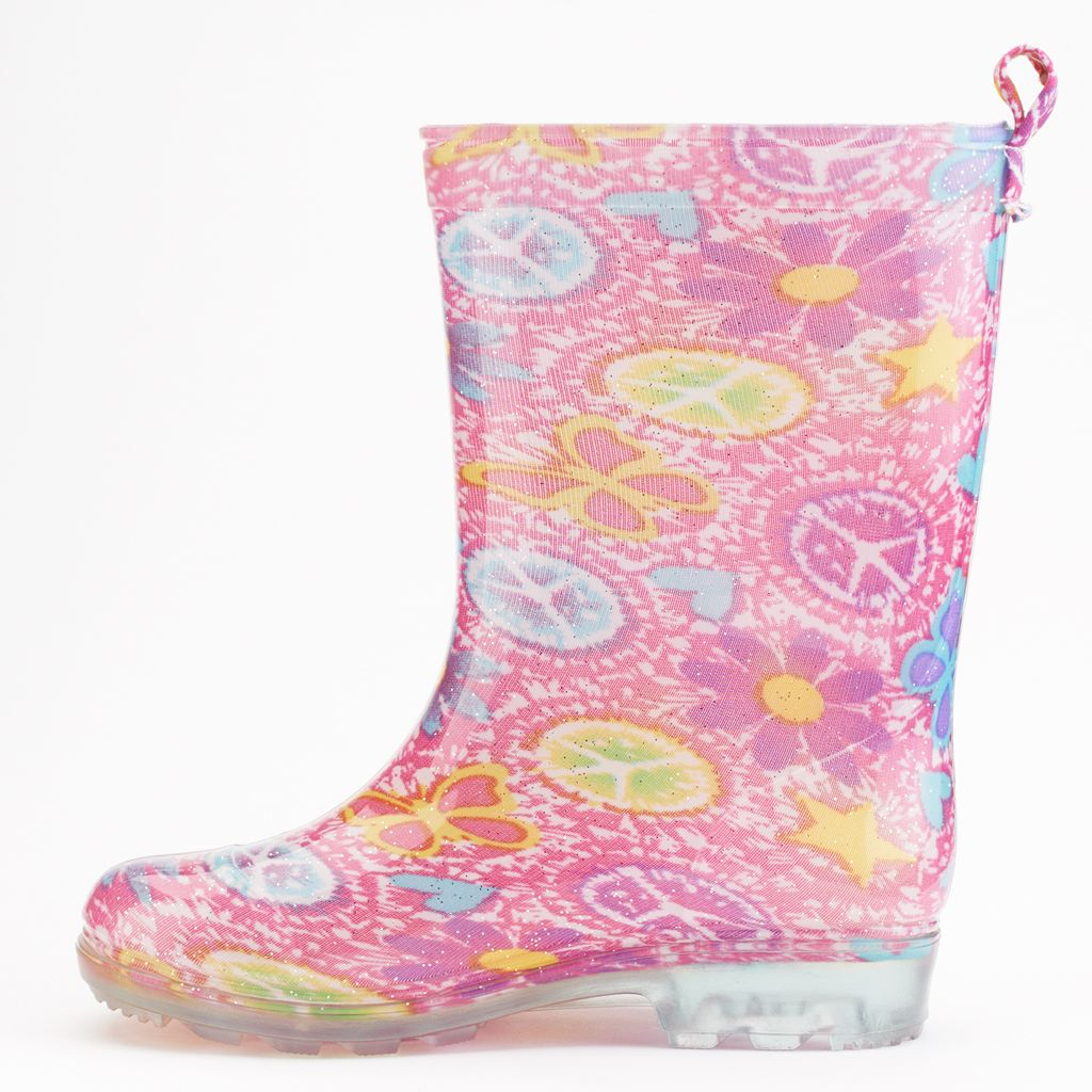 Shiny Sweet Icon Tie-Dye Rain Boots - Girls