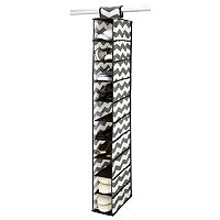 The Macbeth Collection Closet Candie Collapsible Chevron 10-Shelf Hanging Organizer