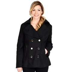 Womens Grey Peacoat Coats &amp Jackets - Outerwear Clothing | Kohl&39s