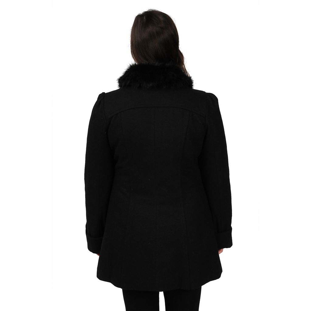 Women's Excelled Wool-Blend Walker Coat