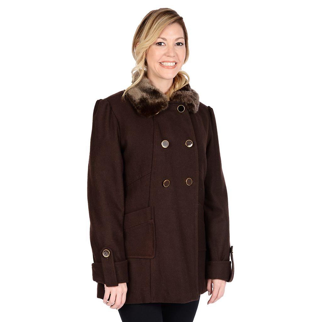 Women's Excelled Wool-Blend Walker Coat