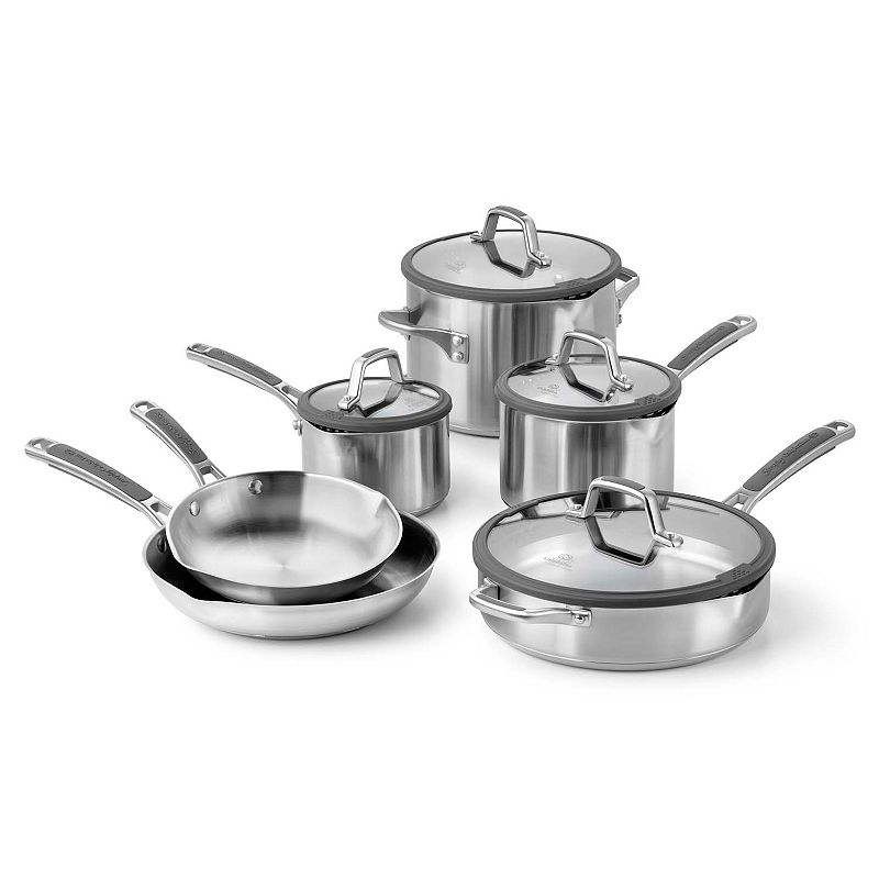 Simply Calphalon Easy System 10-pc. Stainless Steel Cookware Set