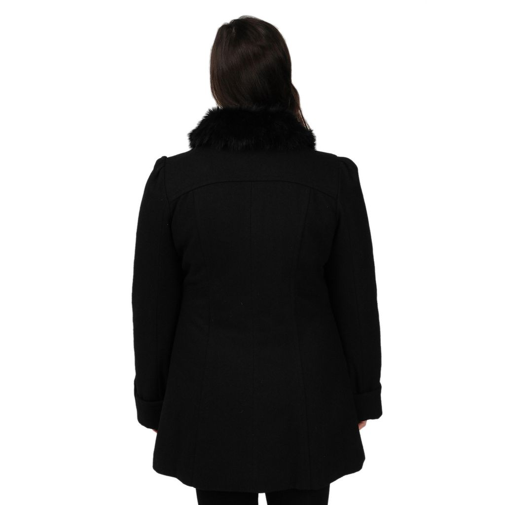 Plus Size Excelled Wool-Blend Walker Coat