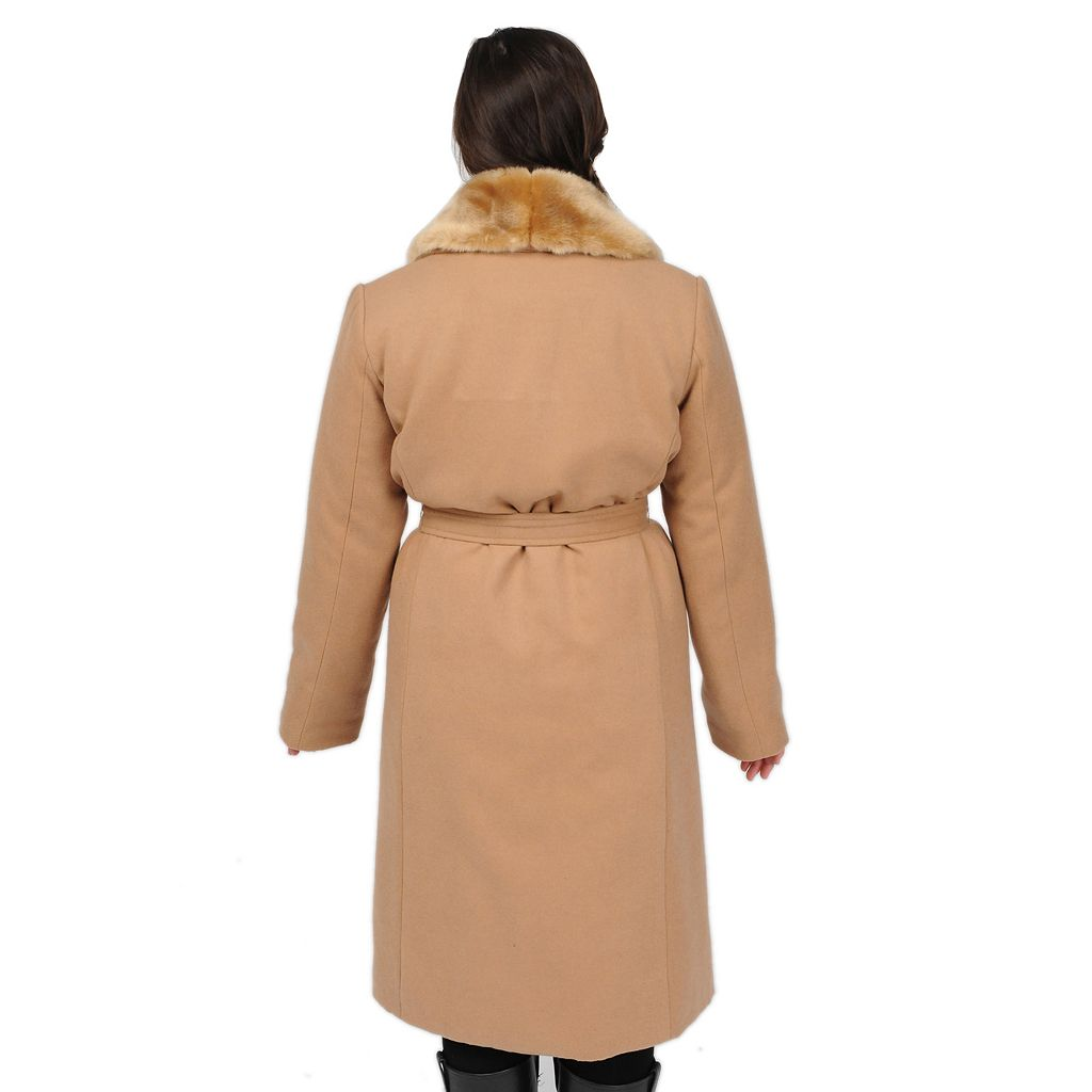 Women's Excelled Faux-Wool Swing Coat