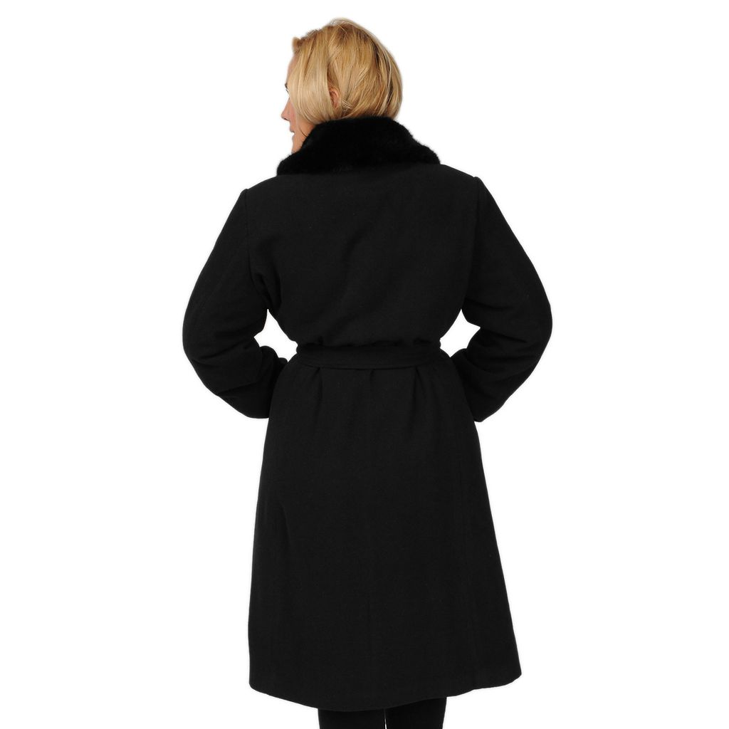 Plus Size Excelled Faux-Wool Swing Coat