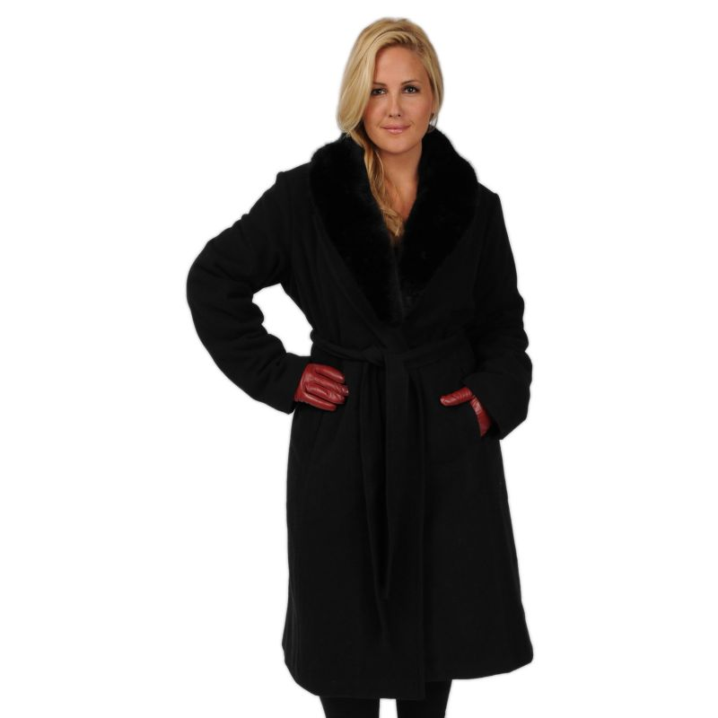 Excelled Faux-Wool Swing Coat - Women's Plus