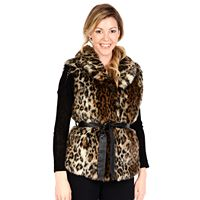 Women's Excelled Leopard Faux-Fur Vest
