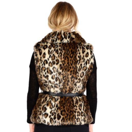 Women's Excelled Leopard Faux-Fur Vest