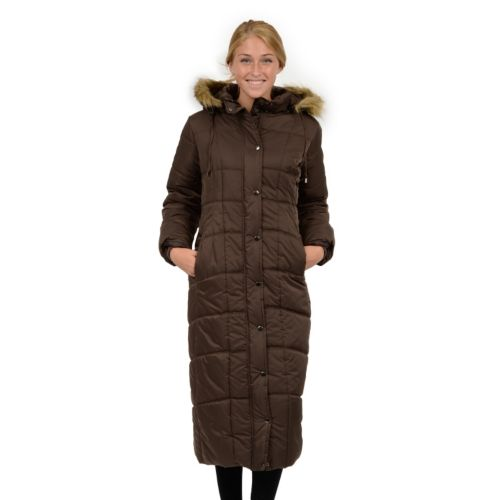 Excelled Hooded Long Puffer Coat